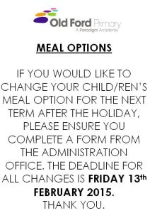 Meal option flier 020215